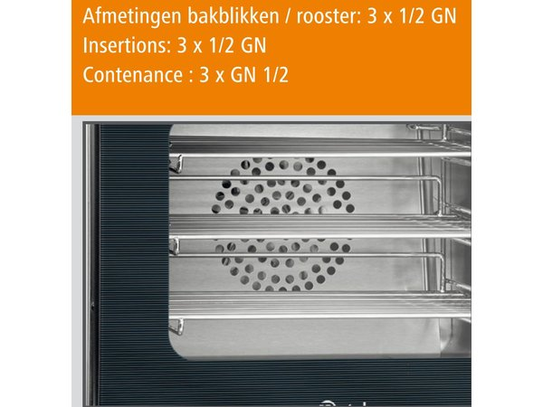 Bartscher Heteluchtoven AT110 - 460x570x460(h)mm - incl. 3 x 1/2 GN roosters