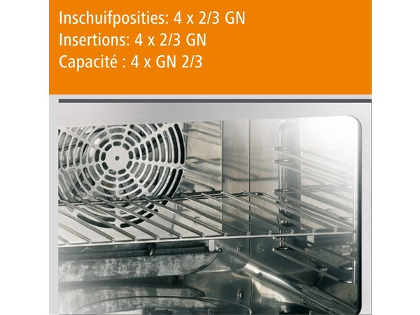 Bartscher Compact Combi Steamer - 4 x 2/3 GN - 55x54,5x (h) 38cm