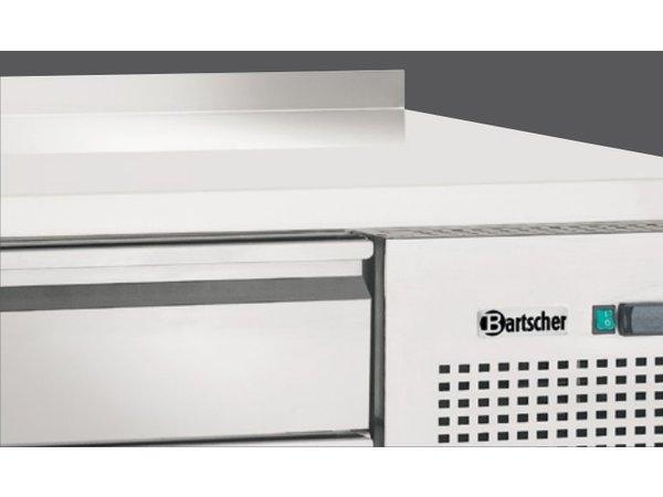 Bartscher Koelwerkbank - RVS- 9 x 1/1 GN lades - 180x70x(h)85cm - Met Spatrand