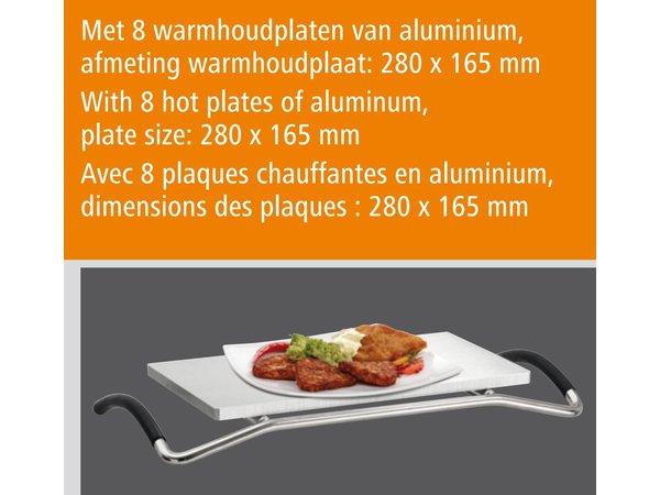 Bartscher Rechaud - 8 platen - Aluminium - 1250W - 380x250x(H)447 mm
