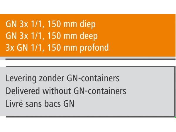 Bartscher Gastro Buffet T - Warmhoudvitrine GN 3x 1/1