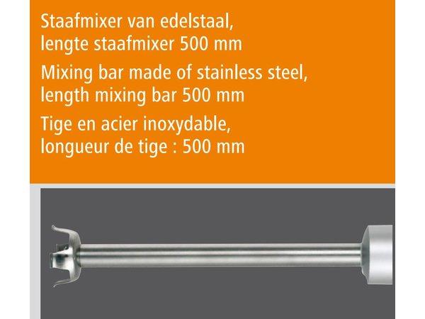 Bartscher Professionele staafmixer | 2 Snelheden | 17000 RPM | 550W