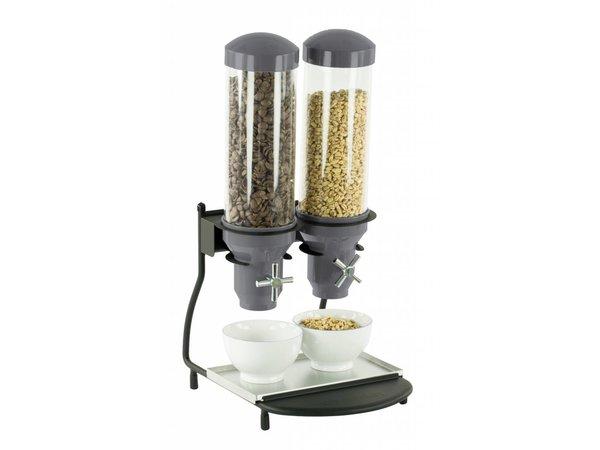 Casselin Graandispenser Metaal | 2 ABS Buizen x 3 Liter | 300x390x640(h)mm
