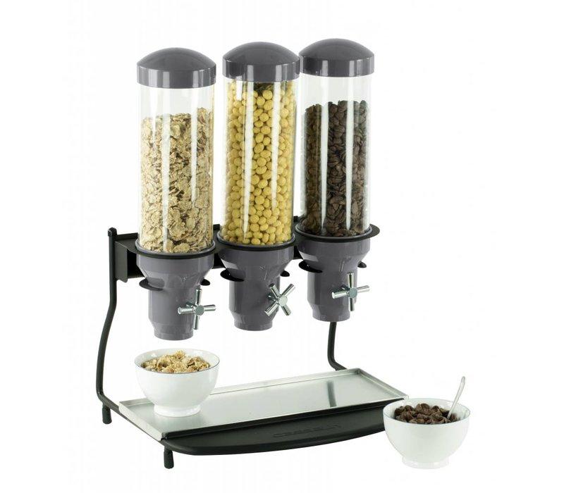 Casselin Graandispenser Metaal | 3 ABS Buizen x 3 Liter | 460x390x640(h)mm