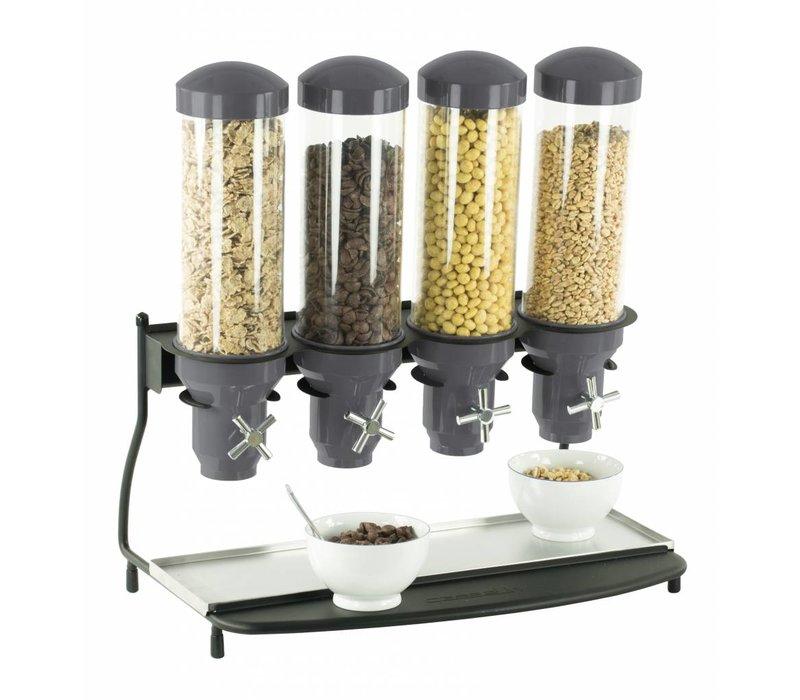Casselin Graandispenser Metaal | 4 ABS Buizen x 3 Liter | 600x390x640(h)mm