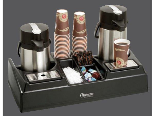 Bartscher Dubbel koffiestation geschikt voor 2 pompthermoskannen