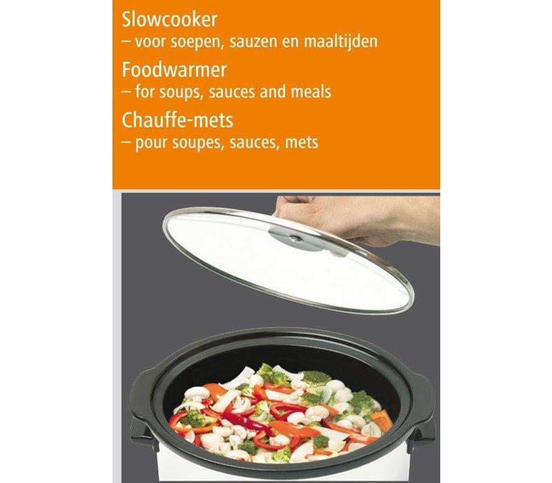 Bartscher Slowcooker Ovaal + inzetpan van Keramiek - 6,5 liter