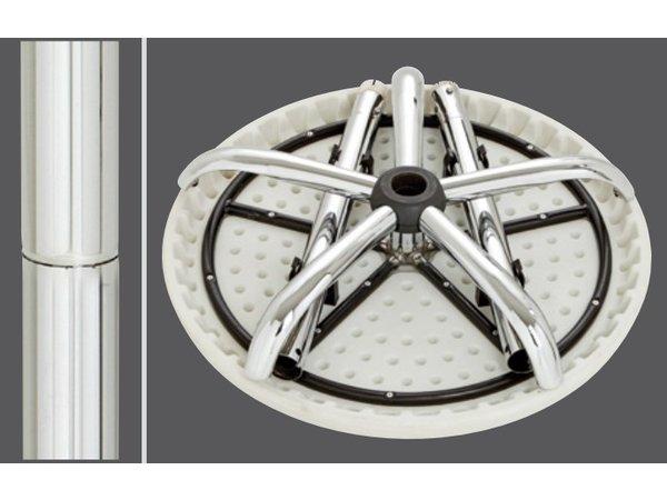 Bartscher Ronde Statafel - Verstelbaar 67,5(h)cm tot 117(h)cm - 70cm ø - Hoogte Instelbaar en Volledig Inklapbaar