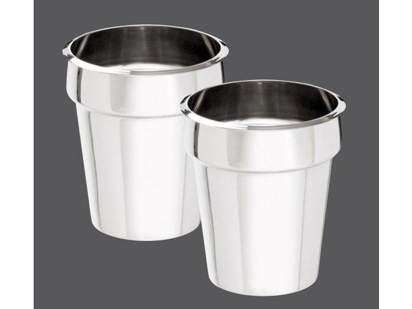 Bartscher Hotpot | Bain Marie | 2x3,5 Liter | RVS | 0,30kW | 415x210x(H)320mm