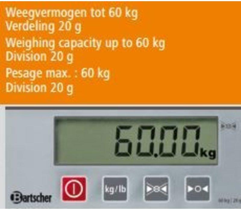 Bartscher Digitale weegschaal - Max. 60 kg