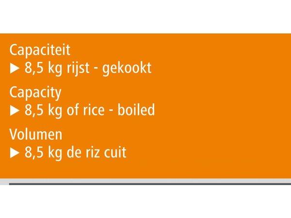 Bartscher Rijstverwarmer - 8,5 kg rijst - ongekookt