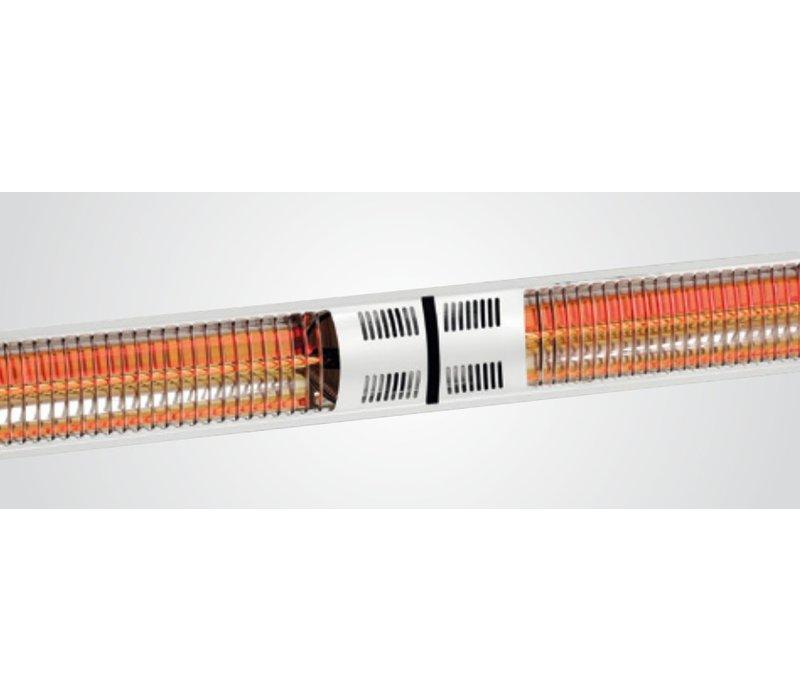 Bartscher Elektr. Infrarood Straalkachel | Wandmontage | 2 Verwarmingsbuizen | Afstandsbediening | 1050x200x(H)100mm