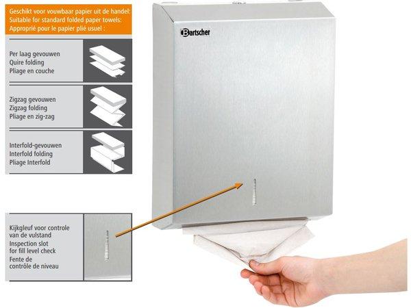 Bartscher Papierdoekdispenser voor wandmontage