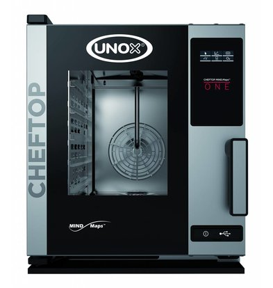 Unox Combisteamer One Electric Compact Combi Oven | XECC-0523-E1R a | 5 x GN 2/3 | 230 | 535x662x649 (h) mm