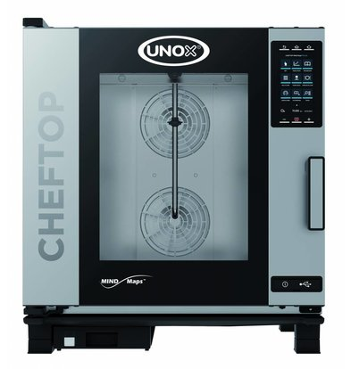 Unox Combisteamer Plus Electric Combi Oven | XEVC-0711-EPR | 7 x GN 1/1 | 400V | 750x773x843 (h) mm