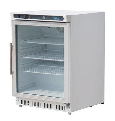 Polar Fridge with glass door - 150 Liter - 60x60x (h) 85cm