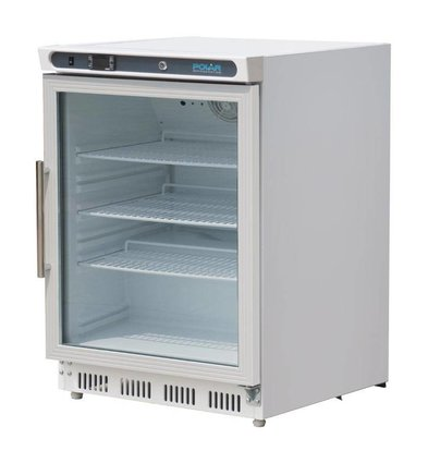 Polar Koelkast met glazendeur - 150 Liter - 60x60x(h)85cm