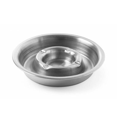 Hendi Stainless steel ashtray | With Fire Ridge | Ø140x30mm