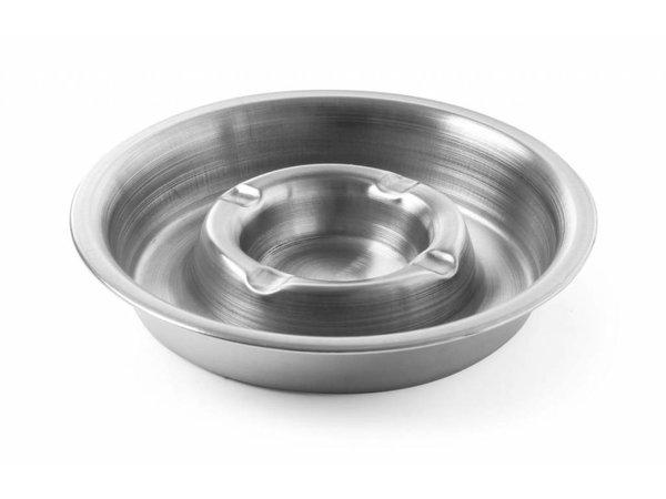 Hendi Stainless steel ashtray | With Fire Ridge | Ø140x30mm