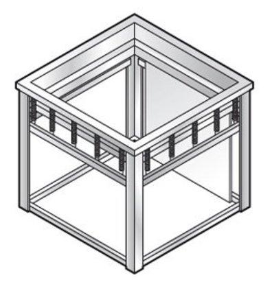 Combisteel Dienbladenlift | voor 530x370mm dienbladen | 660x460x(h)580mm
