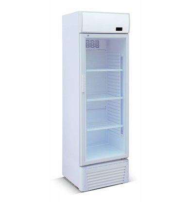 Combisteel Refrigerator 310 liters - Glass door - Only - 60x59x (h) 190cm