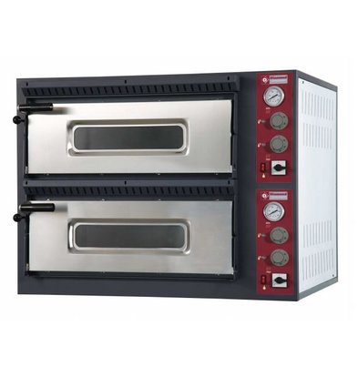 Diamond Pizza Oven Elektrisch Dubbel | 2x 4 Pizza's Ø33cm | 400V | 9,4kW | 980x930x(H)750mm