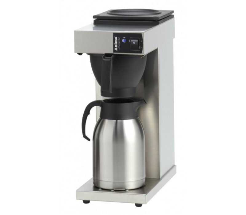 Animo Koffiezetapparaat RVS Animo   10385   Excelso T   Inc RVS Kan 2 Liter   2100W   190x370x(h)480mm
