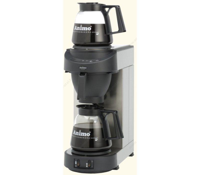 Animo Koffiezetapparaat Animo Vaste Wateraansluiting| 10552 | M200 | Inc 2 x Glazen Kan 1,8 Liter | 2250W