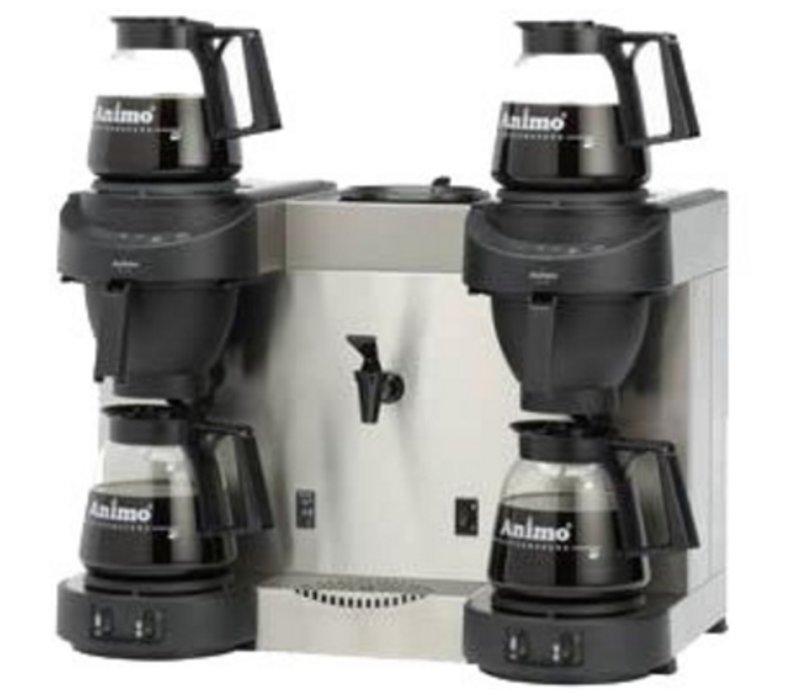 Animo Trio | Dubbel Koffiezetapparaat en Heewaterdispenser Animo Vaste Wateraansluiting | 10567 | M202W