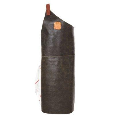 Witloft Leren Schort Witloft | Apron Butcher Black / Cognac | WL-ABR-01 | Male | Large 85(L)x60(b)cm