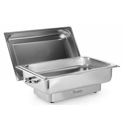 Hendi Chafing Dish Elektrisch | Pollina | 1/1 GN | Traploos | 615x355x(H)284mm