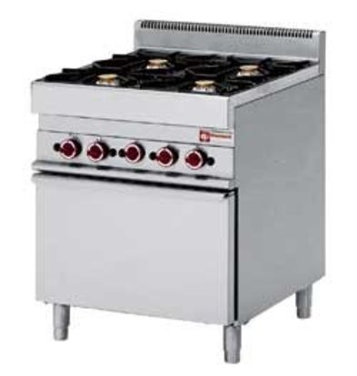 Diamond Gas stove   4 Burners   3.6 and 5kW   With Gas oven   700x650x (h) 850 / 950mm