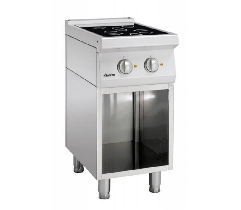 Bartscher Keramisch fornuis met 2 kookzones en open onderbouw