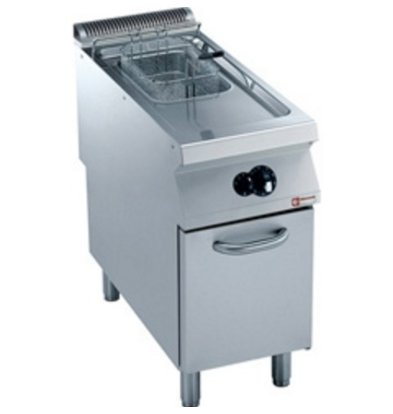 Diamond Gas Fryer | 15 Liter | Exterior Burners | on Cabinet | 400x900x (h) 850 / 920mm