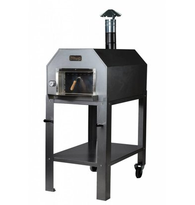 Diamond Pizza Oven SS 'Diamante'   Charcoal / Wood Fired   3-4 Pizzas   500 ° C   700 (l) x1000x (h) 2030mm
