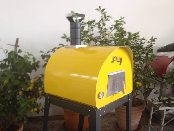 XXLselect Pizza Oven SS 'Jally' | Charcoal / Wood Fired | 2 Pizzas | 360 ° C | 700x700x (H) 750mm