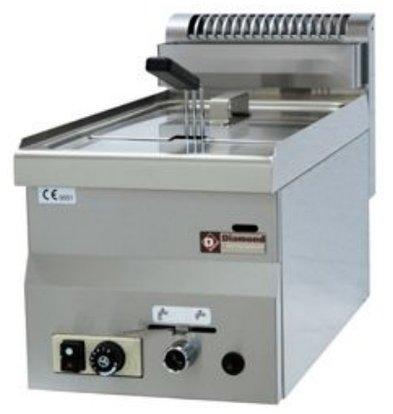 Diamond Gas Fryer | 8 Liter | tabletop | 6,8 Kw | 300x600x280 / 400 (h) mm