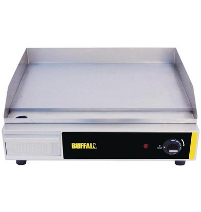 Buffalo Backplate Smooth Stainless Steel - 52x47x (h) 20cm - Temp 60-300C - Stainless Steel + Removable Toy - 2.2kW - HEAVY DUTY