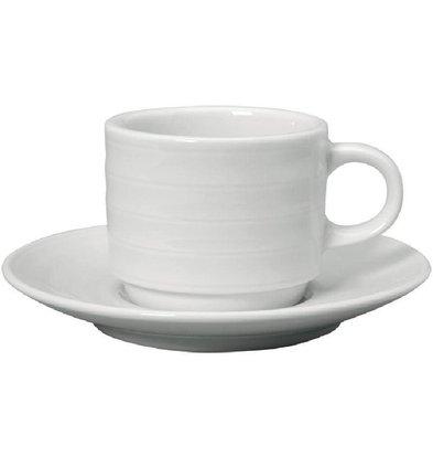 Intenzzo Espressokopje + Schotel | Intenzzo | Wit Porselein | 80ml | Per 4 Stuks