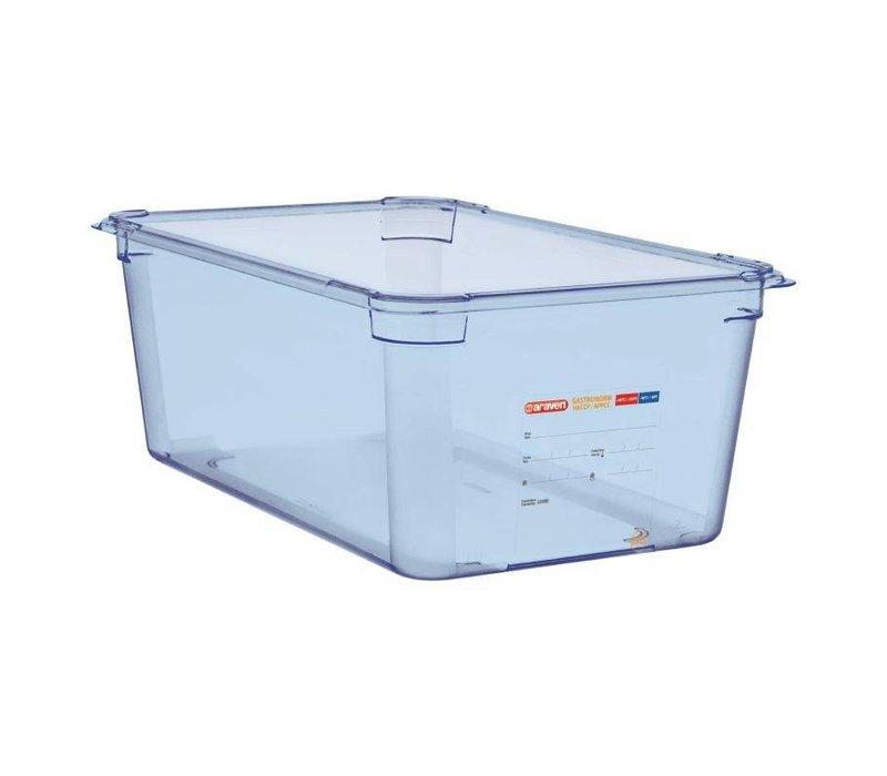 Araven Voedselcontainer Blauw ABS - GN1/1 | 200mm Diep