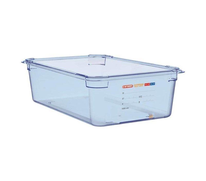 Araven Voedselcontainer Blauw ABS - GN1/1 | 150mm Diep