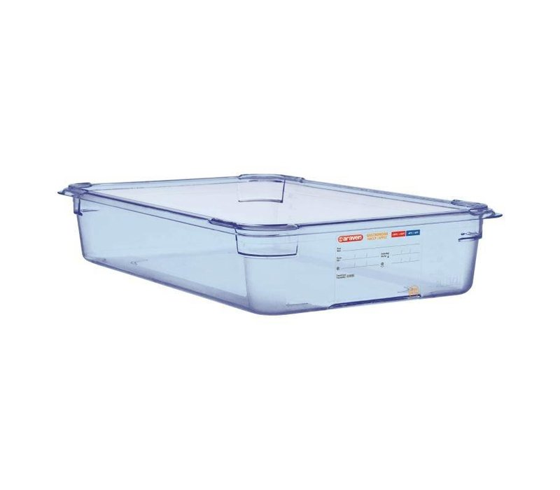 Araven Voedselcontainer Blauw ABS - GN1/1 | 100mm Diep