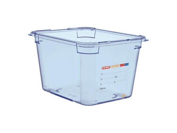 Araven Voedselcontainer Blauw ABS - GN1/2 | 200mm Diep