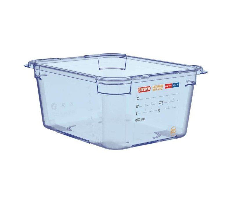 Araven Voedselcontainer Blauw ABS - GN1/2 | 150mm Diep