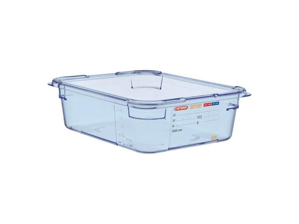 Araven Voedselcontainer Blauw ABS - GN1/2 | 100mm Diep