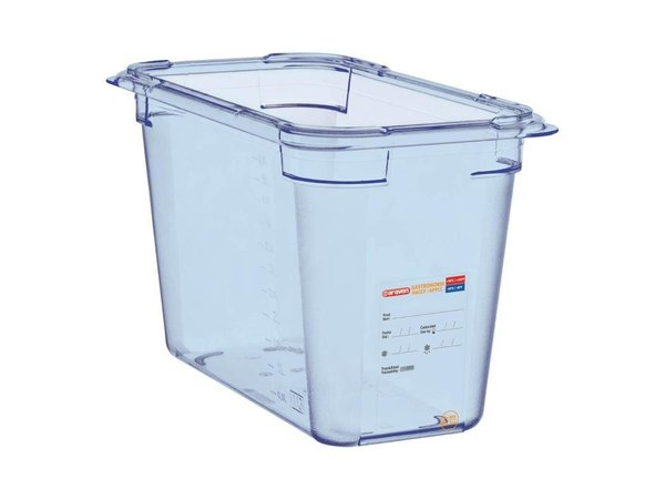 Araven Voedselcontainer Blauw ABS - GN1/3 | 200mm Diep