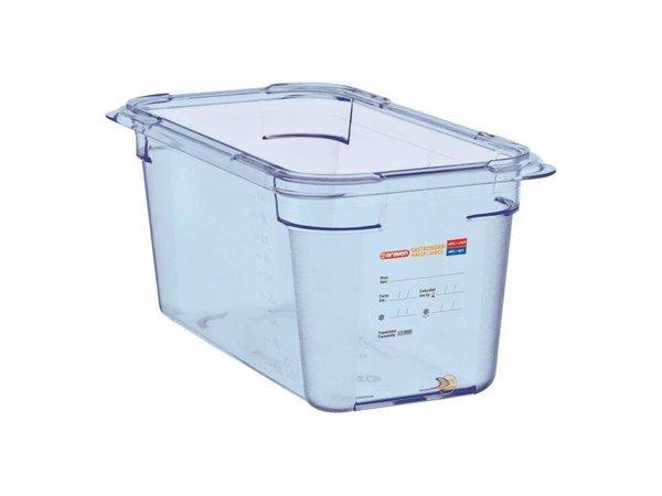 Araven Voedselcontainer Blauw ABS - GN1/3   150mm Diep