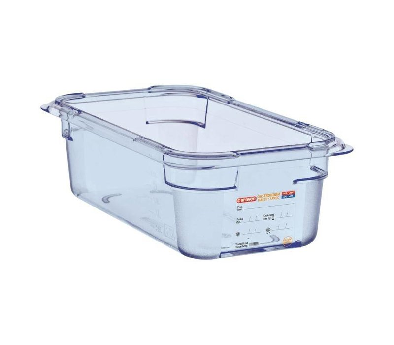 Araven Voedselcontainer Blauw ABS - GN1/3 | 100mm Diep