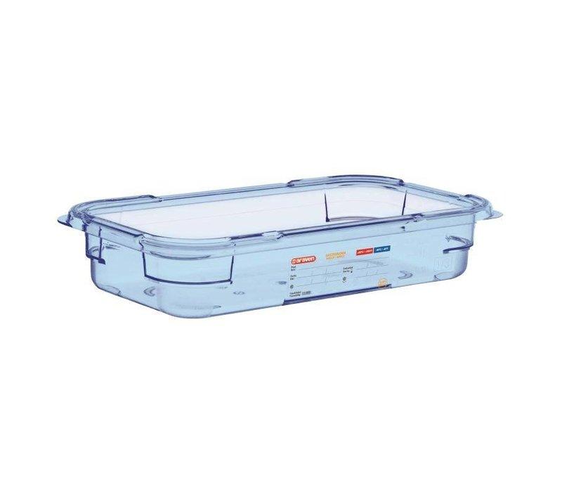 Araven Voedselcontainer Blauw ABS - GN1/3 | 65mm Diep
