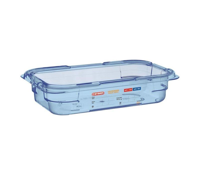 Araven Voedselcontainer Blauw ABS - GN1/4   65mm Diep